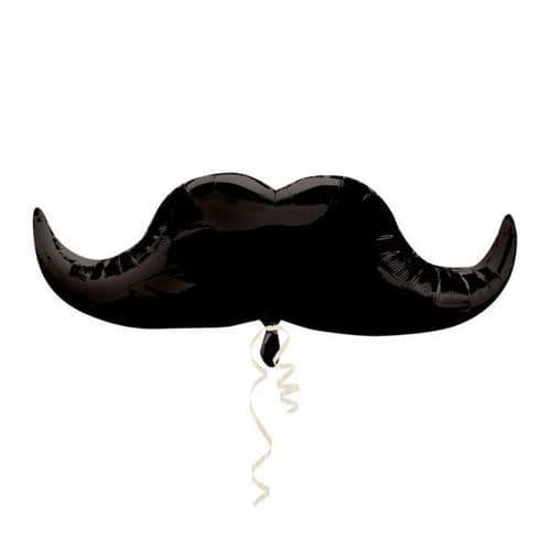 """Moustache SuperShape Foil Balloon 35"""" x 12"""""""
