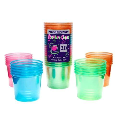 Neon Plastic Bomber Cups 20's