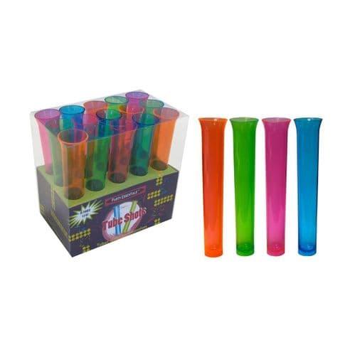 Neon Plastic Plastic Tube Shots 15's