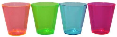 Neon Plastic Shot Glasses 50's