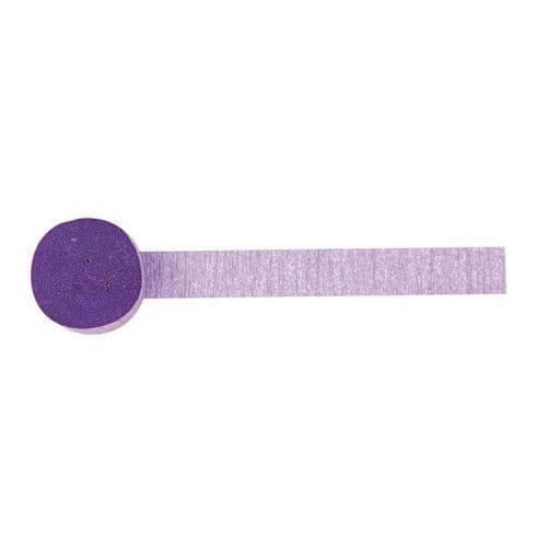 New Purple Crepe Streamers 4.4.cm x 24.7m