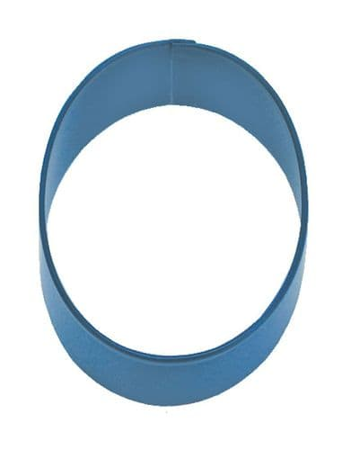 Number 0 Poly-Resin Coated Cookie Cutter Navy Blue