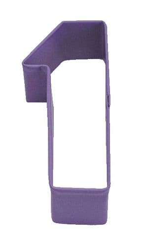 Number 1 Poly-Resin Coated Cookie Cutter Purple