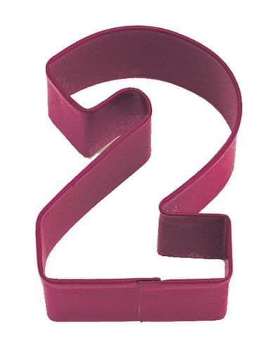 Number 2 Poly-Resin Coated Cookie Cutter Red