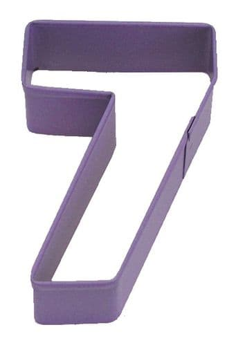 Number 7 Poly-Resin Coated Cookie Cutter Purple