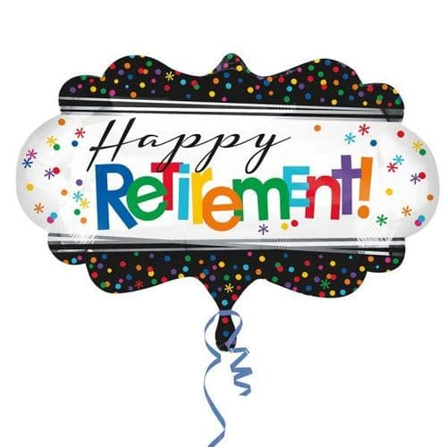 """Officially Retired Supershape Foil Balloon 27"""" x 16"""""""