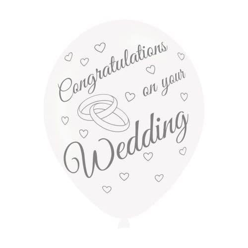 "On Your Wedding Latex Balloons 11"" x 6"