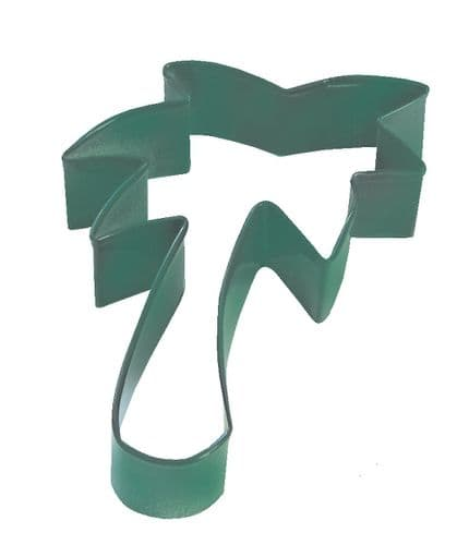 Palm Tree Poly-Resin Coated Cookie Cutter Green