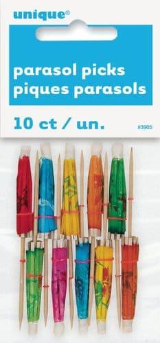Paper Parasol Picks 10pc