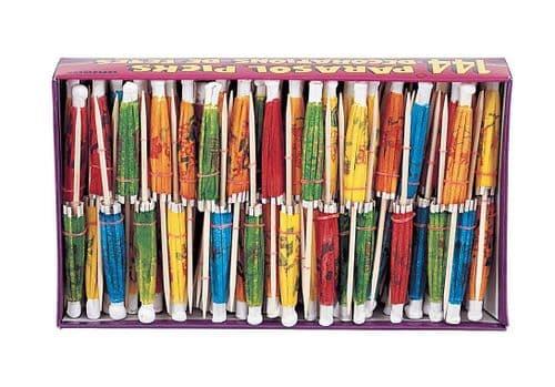 Paper Parasol Picks Box 144pc