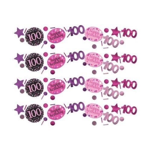 Pink Celebration 100th Birthday Confetti 34g