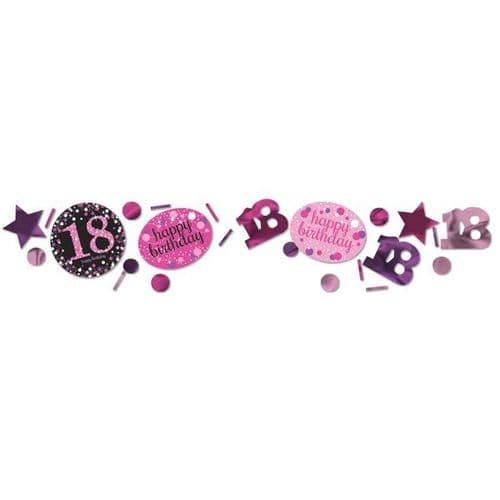 Pink Celebration 18th 3 Pack Value Confetti 34g
