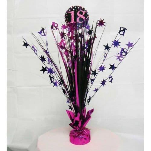 Pink Celebration 18th Centrepiece Spray 33cm
