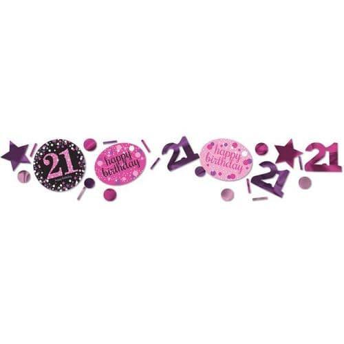 Pink Celebration 21st 3 Pack Value Confetti 34g