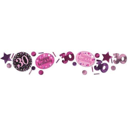 Pink Celebration 30th 3 Pack Value Confetti 34g