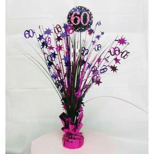 Pink Celebration 60th Centrepiece Spray 45cm