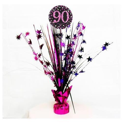 Pink Celebration 90th Centrepiece Spray 45cm