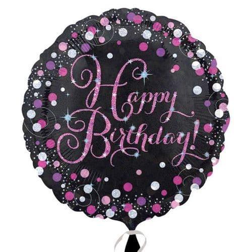 Pink Celebration Prismatic Standard Foil Balloon