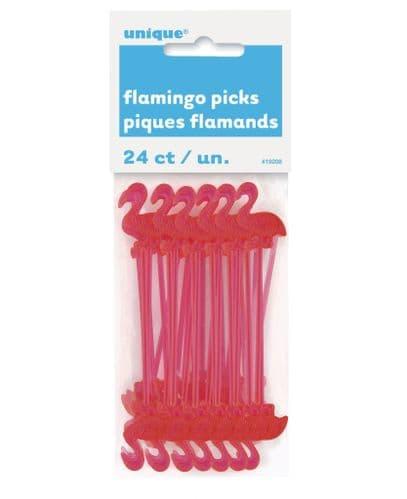 "Plastic Flamingo Picks 3"" 24's"