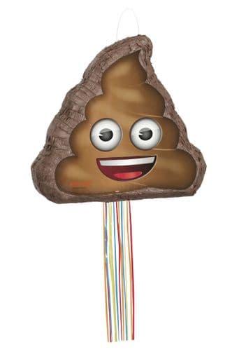 Poop Emoji Shaped Drum Pull Pinata