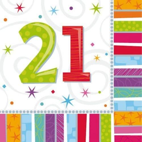Radiant Birthday 21st Luncheon Napkins 16 per pack.