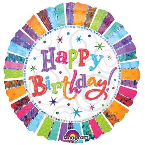 "Radiant Birthday Foil Balloon 18"""