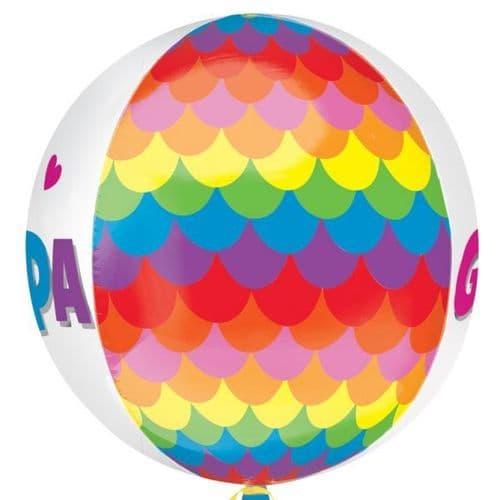 Rainbow Congrats Foil Balloon