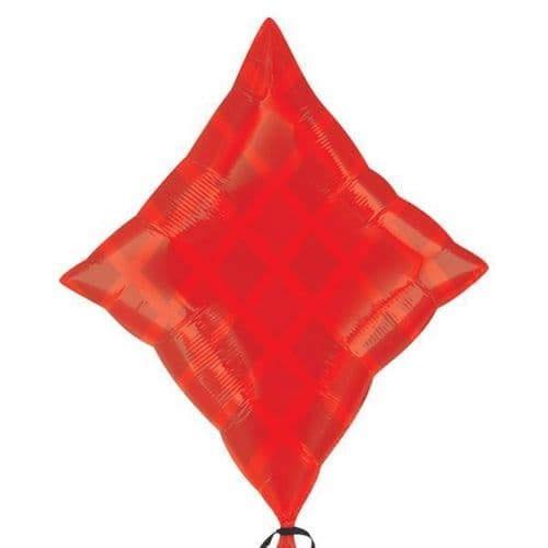 "Red Diamond Junior Shape Foil Balloon 19"" x 24"""