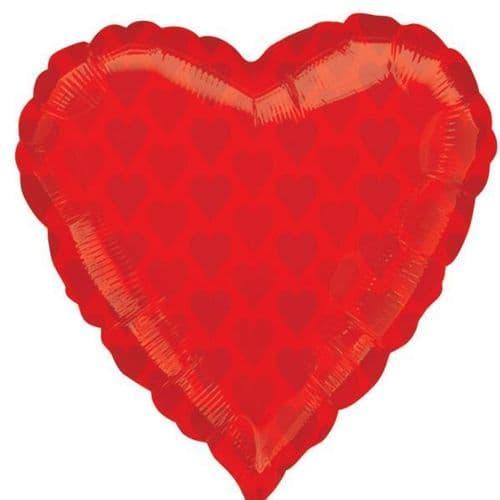 "Red Heart Junior Shape Foil Balloon 22"" x 22"""