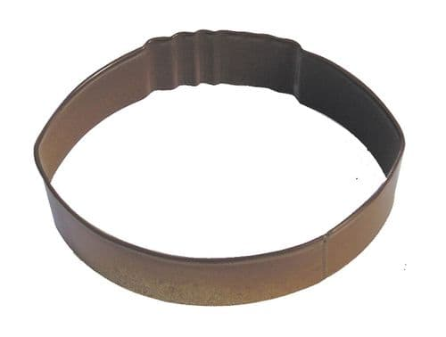 Rugby Ball Poly-Resin Coated Cookie Cutter Brown