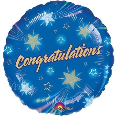 Shooting Stars Congrats Foil Balloon