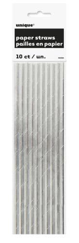 Silver Foil Paper Straw 10pc
