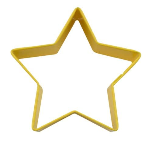 Star Poly-Resin Coated Cookie Cutter Yellow