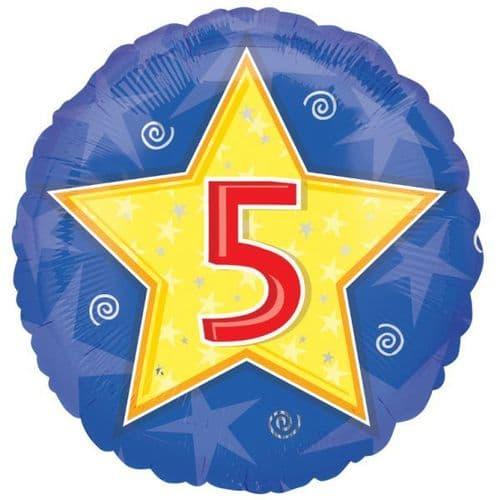 Stars & Swirls Birthday 5  Foil Balloon