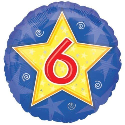 Stars & Swirls Birthday 6  Foil Balloon