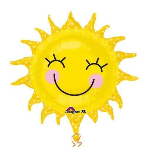 """Sunshine Sun SuperShape Foil Balloon XL 29"""" x 28"""""""