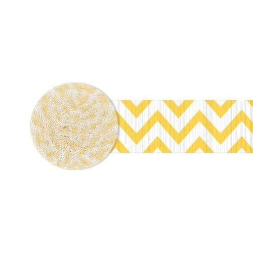 Sunshine Yellow Chevron Crepe Streamers 4.4cm x 24m