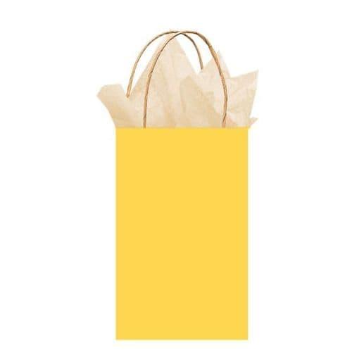 Sunshine Yellow Paper Gift Bags 21cm x 13cm x 9cm