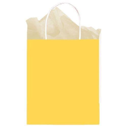 Sunshine Yellow Paper Gift Bags 25cm x 20cm x 10cm