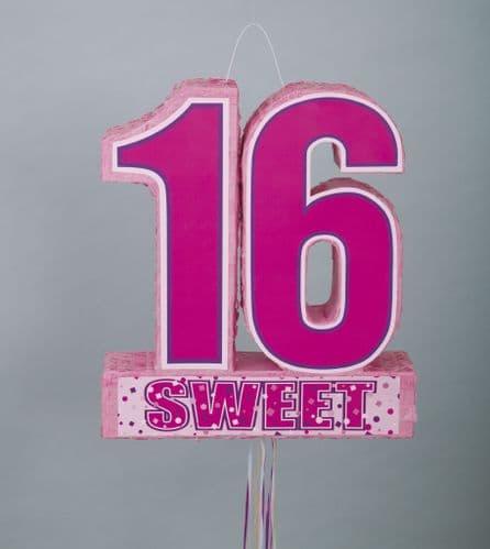 Sweet 16 Pull Pinata