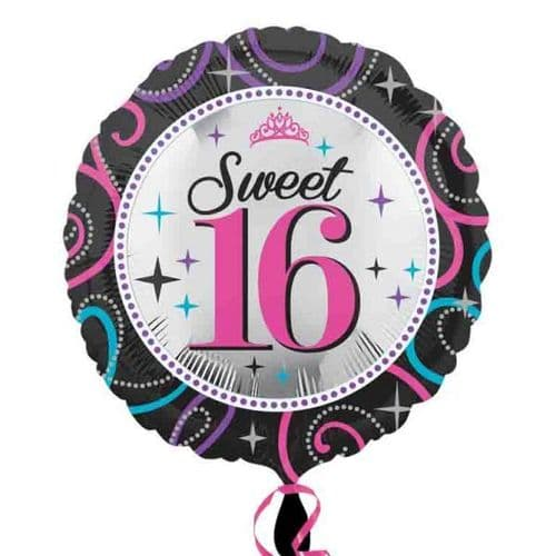 Sweet 16 Sparkle  Foil Balloon