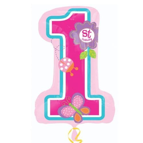 "Sweet Birthday Girl SuperShape Foil Balloon 19"" x 28"""