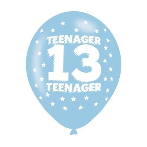 Teenager 13 Latex Balloons