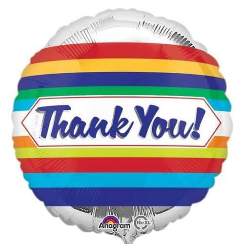 Thank You! Stripes Foil Balloon