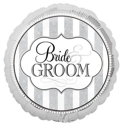 "The Bride & Groom Foil Balloons 18"""