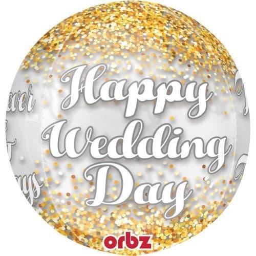 "Wedding Confetti Orbz Foil Balloons 15"" x 16"""