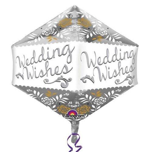"Wedding Wishes Anglez Foil Balloons 17"" x 21"""