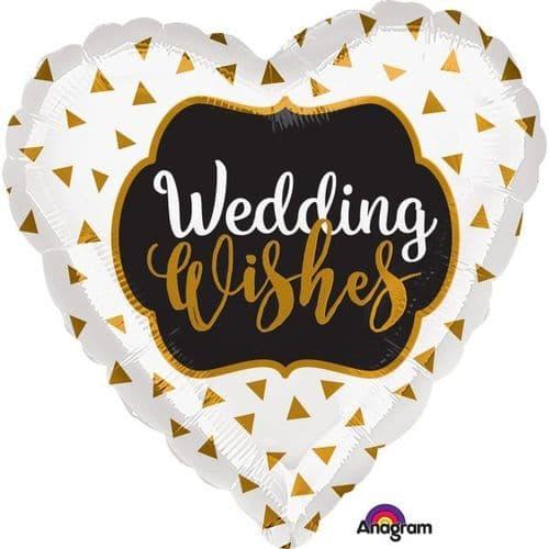 Wedding Wishes Gold Standard Foil Balloon
