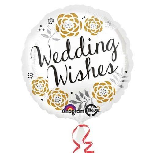 Wedding Wishes Standard Foil Balloon