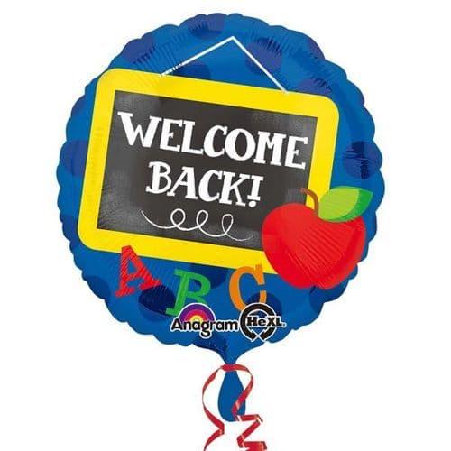 Welcome Back! Chalkboard Foil Balloon